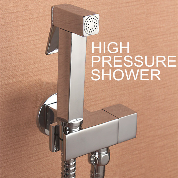 100brass hand held bidet shower faucet free perforating toilet jet cleaner portable bidet high