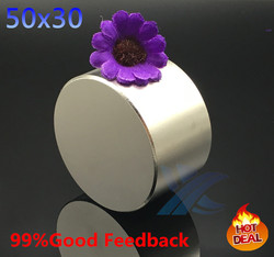 Free shipping 1pc dia 50x30 mm hot round magnet strong magnets rare earth neodymium magnet 50x30mm.jpg 250x250