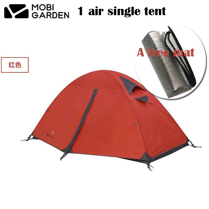 Mobi Garden Cold Mountain 1AIR Single 3-season Double Layer Aluminum Pole Tent With a Free MatMobi Garden Cold Mountain 1AIR Single 3-season Double Layer Aluminum Pole Tent With a Free Mat