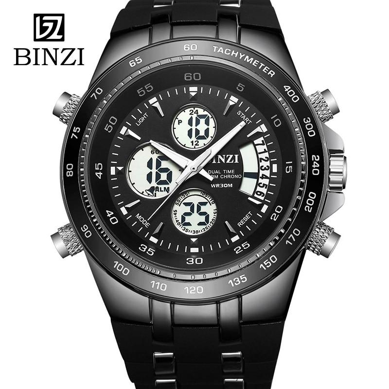 Binzi часы Для мужчин Relógio спортивные часы Для мужчин наручные часы Открытый Фитнес светодиодный цифровой мужской Военная Униформа наручные …