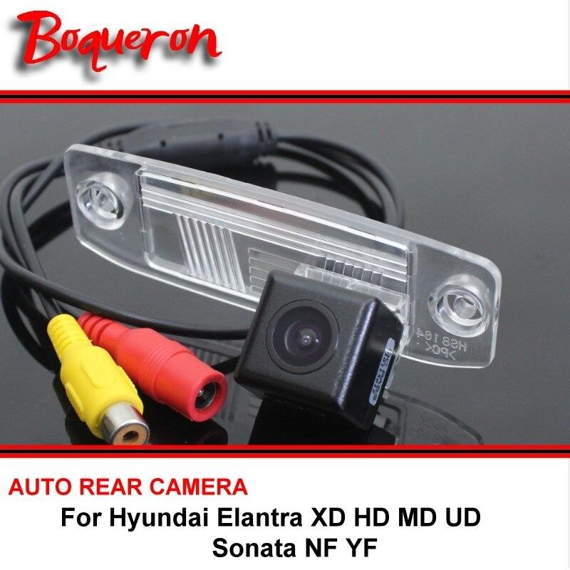 Para Hyundai Elantra XD HD MD UD Sonata NF YF cámara de visión trasera cámara de respaldo inversa cámara de aparcamiento HD CCD Night Vision