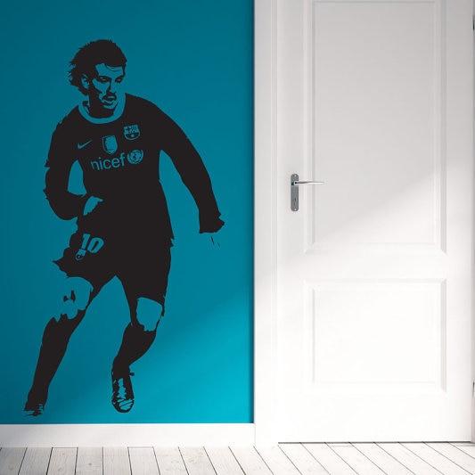 Pemain sepak bola Wall Sticker Football Dinding Decal 55x105 cm DIY - Dekorasi rumah