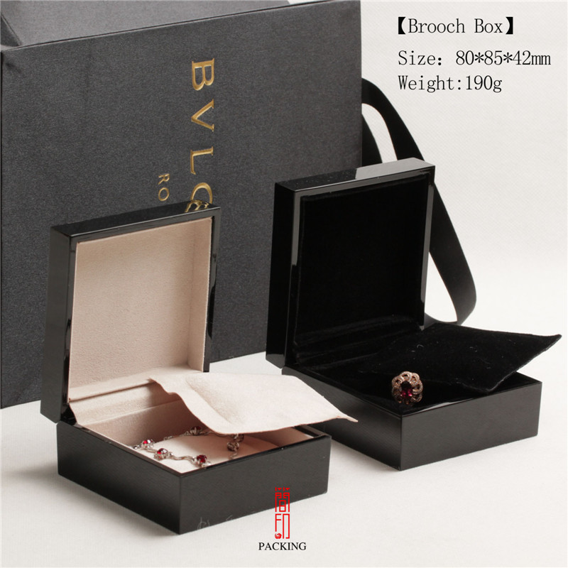 9*9.5*5cm Paint Portative Upmarket  Square Black Boxes  Jewelry Box For  Earring  Ring  Snap Jewelry Or Any  Jewelry GIift
