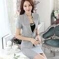 2 Pieces Suit summer fashion Female skirt suits career OL women office coat Jackets uniform sets