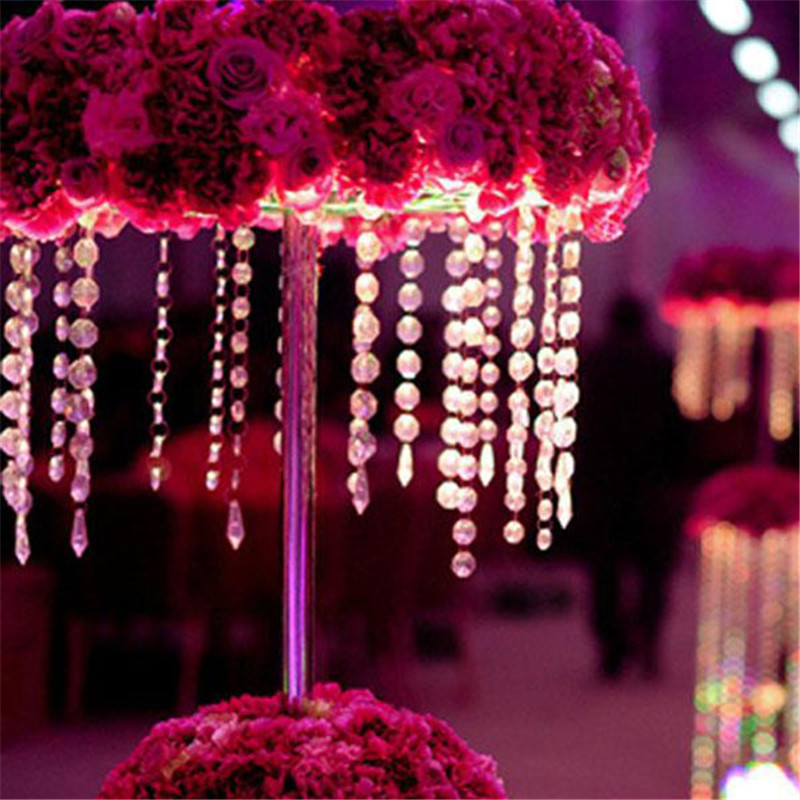 1 PC 33FT 10M Garland Diamond Strand Acrylic Crystal Bead Curtain Wedding DIY Birthday Party Decor