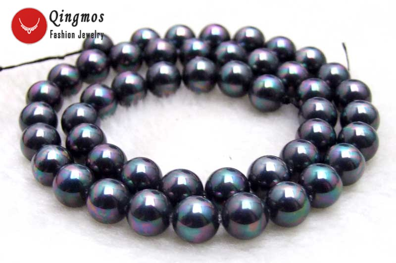 1pcs purple strand pearl effect round beads acrylic 8mm approx 100 beads