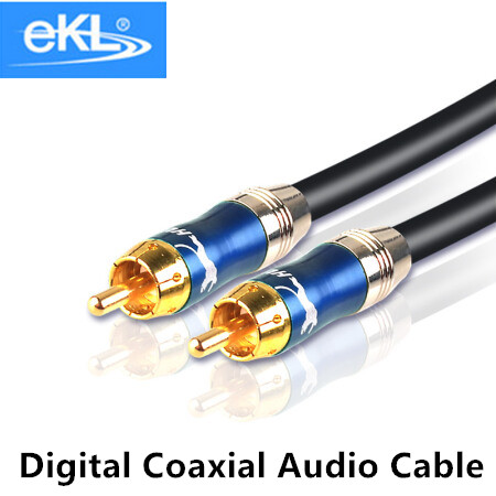 ekl high quality stereo digital coaxial audio video rca cable speaker cable hifi subwoofer cable. Black Bedroom Furniture Sets. Home Design Ideas