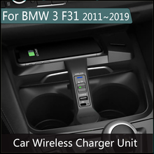 10W Wireless Fast Charger For iphone Android Phone BMW 3 F31 2011~2019 Car Charging Qi Plug and plag Accessories