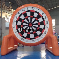 Giant PVC Inflatable Soccer Darts, Inflatable Football Darts Game,Big Balls foot darts boards golf dart boards game