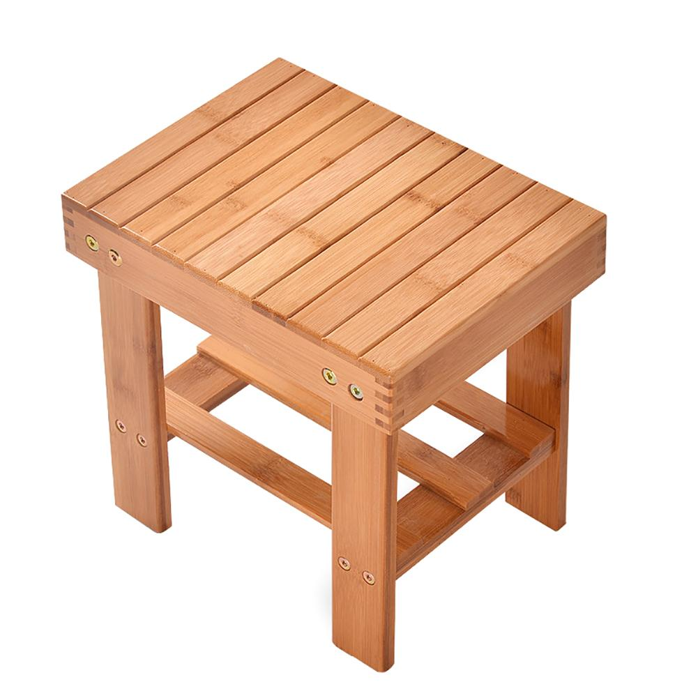 Portable Square Wooden Children Kids Small Stool Home Seat