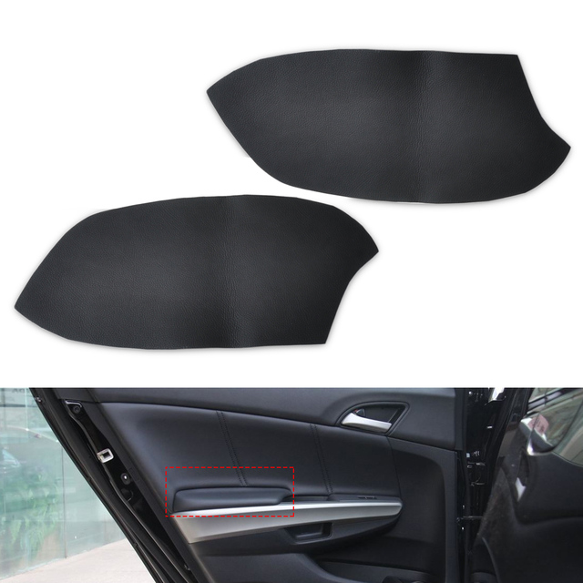 US 10 0 23 OFF CITALL 1pair Black Front Door Panels Armrest Skin Covers Leather For Honda Accord DIY 2008 2009 2010 2011 2012 In Interior Door