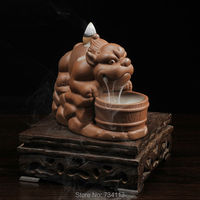 Brave incense burner Ceramic Cone Censer Smell Removing Aroma Furnace Buddhist Temple Incense Burner Ceramic Crafts