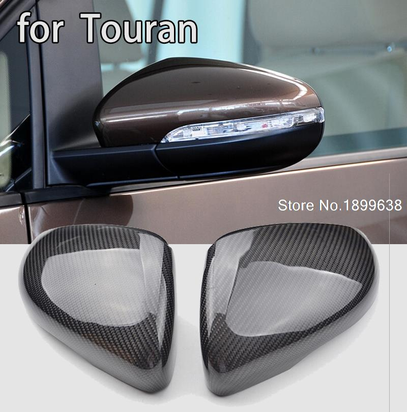 1:1 Replacement Carbon Fiber Rear View Mirror Cover car styling For Volkswagen VW Touran 2011 - 2015