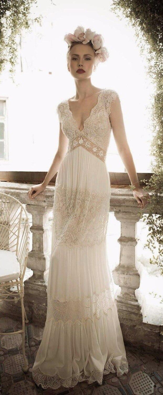 Aliexpress.com : buy bohemian style wedding dresses sleeveless v ...