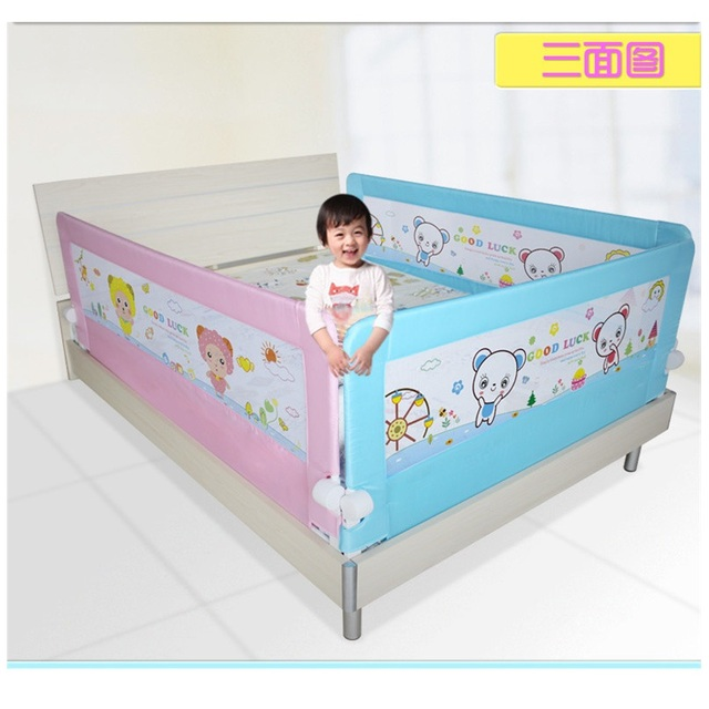 thick and thin mattress versatility baby bed rail toddler safety guard 150x64cm in gates. Black Bedroom Furniture Sets. Home Design Ideas
