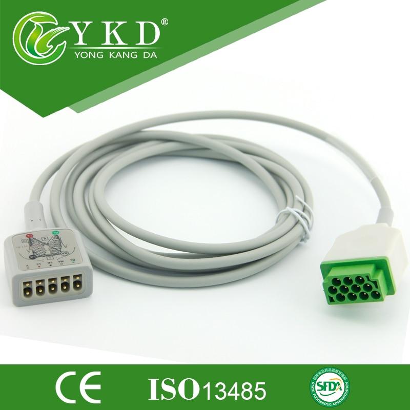 Doprava zdarma Pro 11Pin GE-Marqutte 5-zvodový EKG kabel, AHA