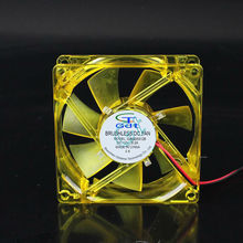 GDT dc mini fan 80mm  for cooling yellow led light 80x80x25mm