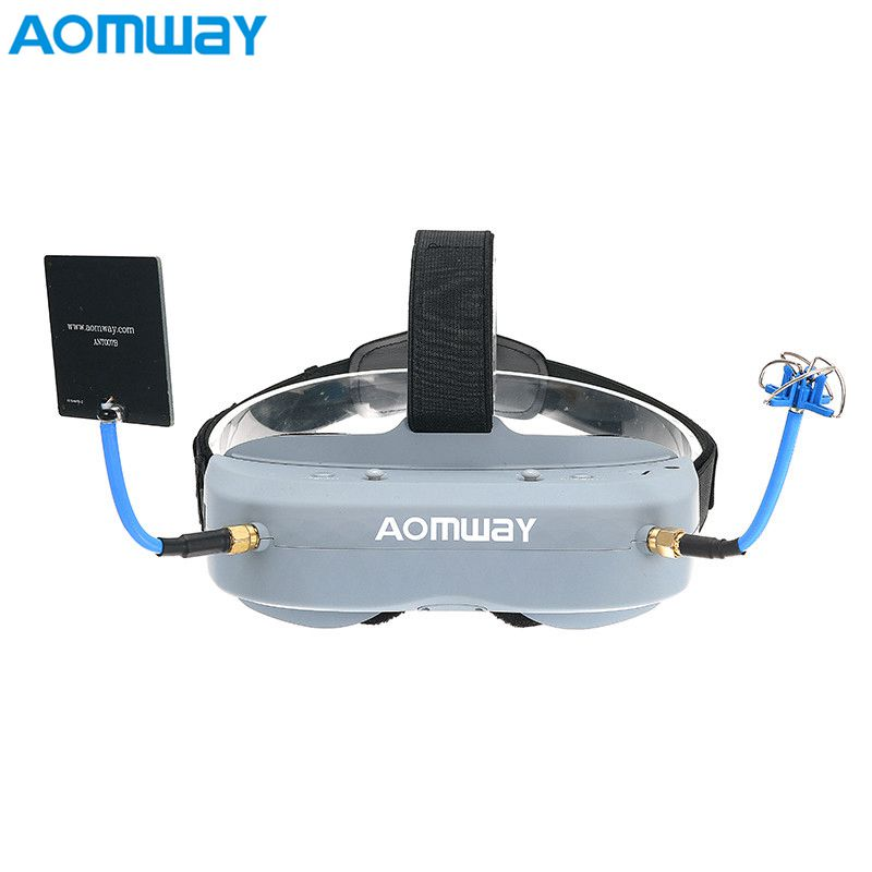 Wholesale Aomway Commander Goggles V1 2D 3D 40CH 5.8G FPV Video Headset Support/With DVR Headtracker