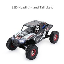 Wltoys 10428-B2 1/10 2.4G 4WD Electric Rock Climbing Crawler RC car Desert Truck Off-Road Buggy Vehicle with LED Light RTR