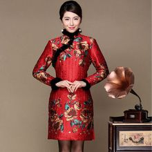Middle Aged Women Winter Dresses 2017 Long Sleeve vestidos Plus size Clothing Vintage Floral Print Casual Mother Dresses Z260