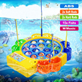 Electronic Magnetic Fishing Toy Muscial Magnetic Juguetes Electric Plastic Fish Toys With Music Fishing Game Fish Magnet Toy