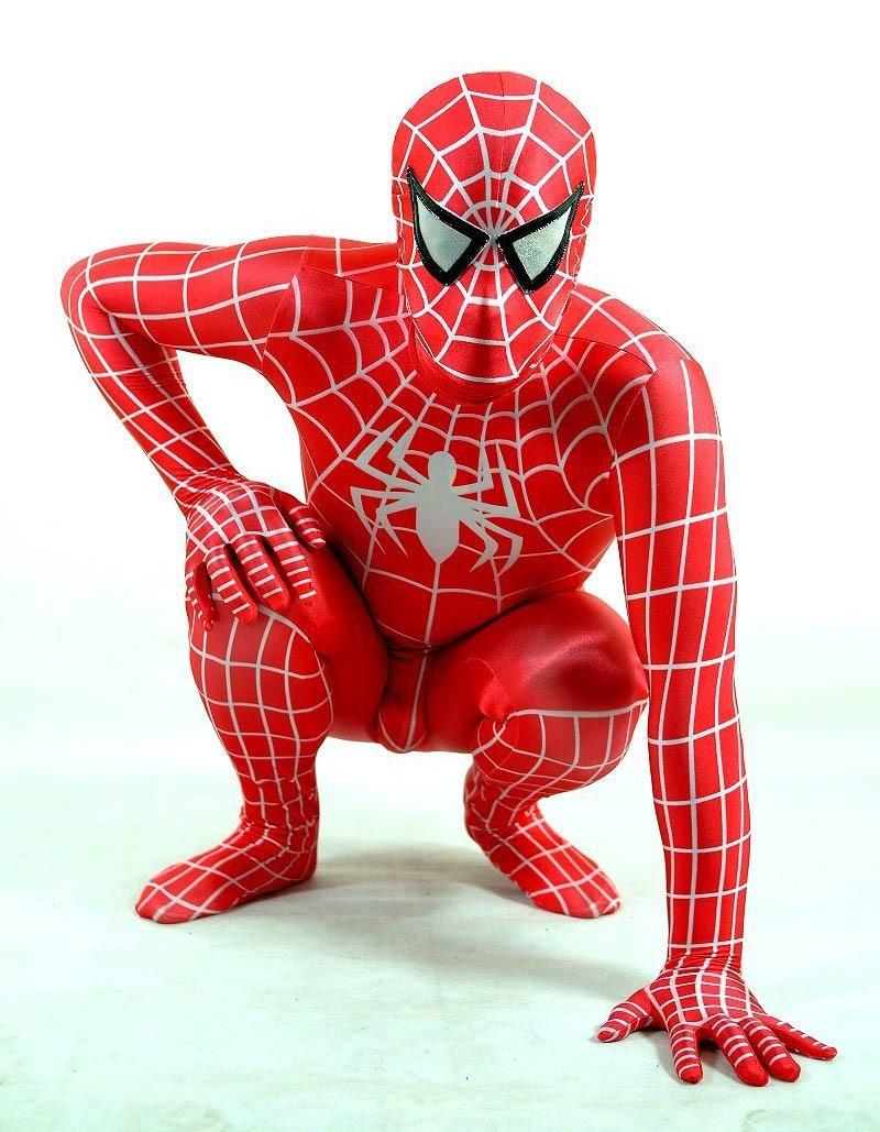 Фиолетовый лайкра/купальник из спандекса Человек-паук Питер Бенджамин Паркер костюм - Цвет: red