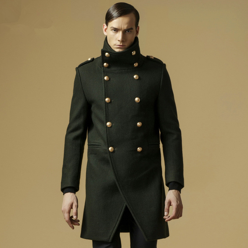 Popular Mens Wool Military Coat-Buy Cheap Mens Wool Military Coat ...