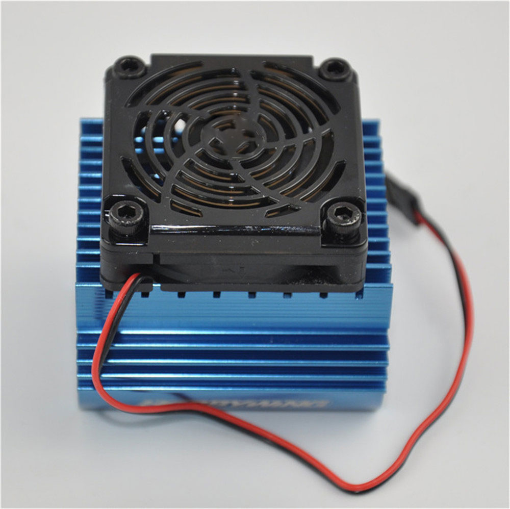 1Pcs Blue High Quality For Ezrun C4 5V Cooling Fan and 44 x 65mm Motor Heat Sink System For 1/8 Car