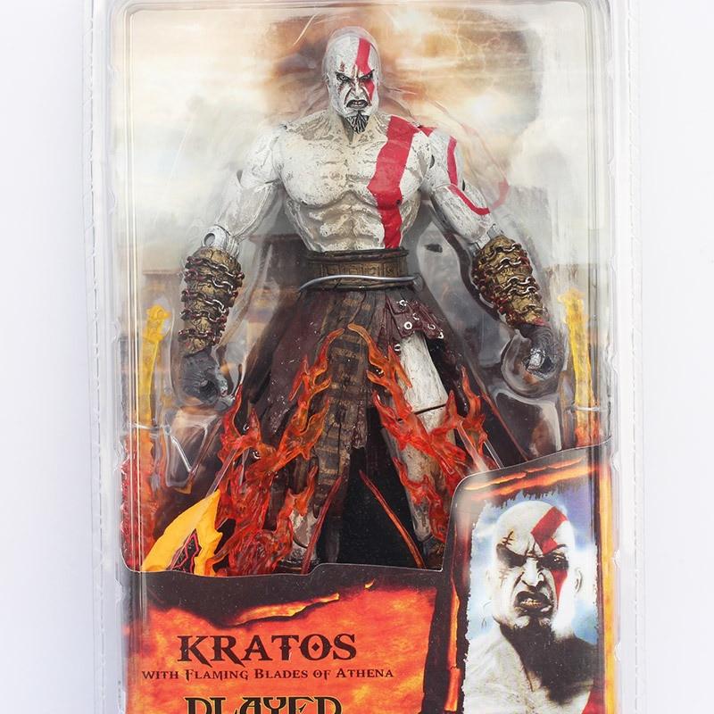 2017 New RARE NECA God of War Kratos in Golden Fleece Armor with Medusa HOT SELL