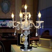 Mode kristall tischlampe bett-beleuchtung luxus moderne verheiratet mode dekoration lampe Kristall Schreibtischlampe Tischbeleuchtung