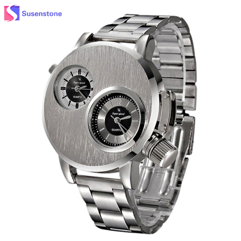 New Fashion Mens Watches Stainless Steel Band Military Sport Quartz Analog Wrist Watch Silver Luxury Design erkek kol saati julius quartz watch ladies bracelet watches relogio feminino erkek kol saati dress stainless steel alloy silver black blue pink