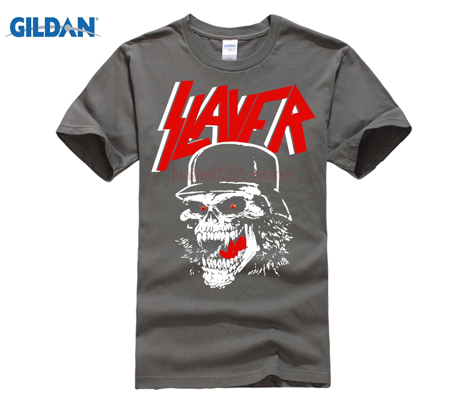 Gildan Plus Size Black Slayer T Shirt Mens British Style -1688
