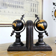 a Pair Creative Synthetic Resin Bookend Shelf Globe Bookend Holder Office Supplies Home Decoration Book Stand