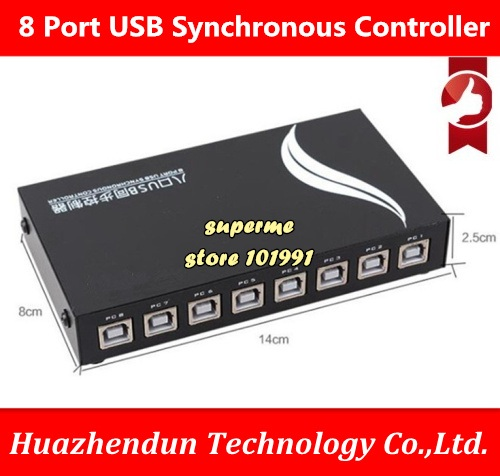 DEBROGLIE 8 Port USB Synchronous Controller, keyboard and mouse synchronizer for Multiple PCs Game Control, with cables 4 port usb synchronous controller keyboard and mouse synchronizer for multiple pcs game control with cables