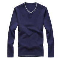Casual V Neck Men S Sweater 2017 Autumn New Arrival Fashion Color Block Knitted Sweaters Men