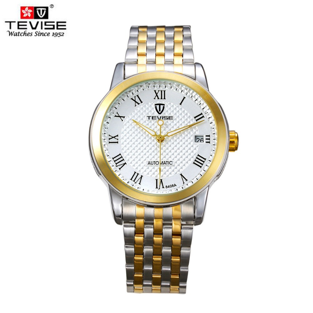 TEVISE Top Brand Fashion Casual Stainless Steel Men Mechanical Watch Skeleton Watch For Mens Automatic Wristwatch free shipping tevise men black stainless steel automatic mechanical watch luminous analog mens skeleton watches top brand luxury 9008g