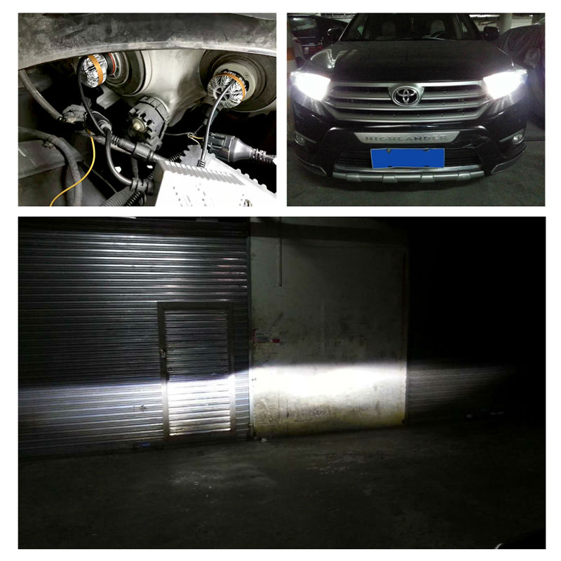 1 Set H8 H9 H11 50W 6000LM Z7 LED Headlight LUMILED LUXEON ZES 16LED Chips Built-in Canbus Decoder Pure White 6000K Driving Fog