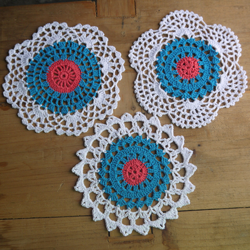 Crochet Doily Placemats Table Cloth Cup Mat Crochet Pattern Cup Pad