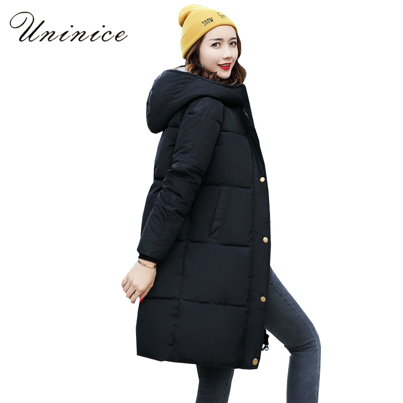 long parka warm winter coat women outerwear 2017 autumn jacket parka femme Zipper Hooded Cotton Padded Overcoat Parkas female цены онлайн