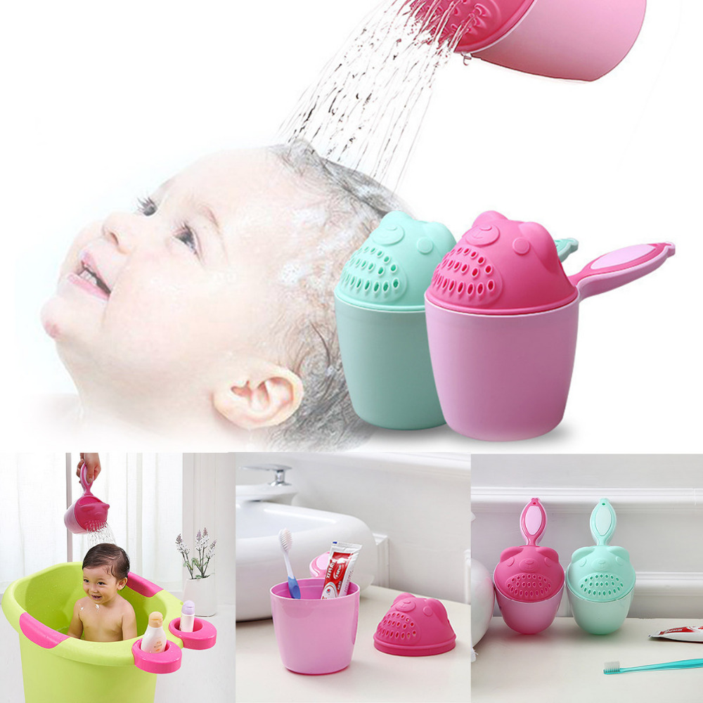 Baby Shampoo Cup Children Shower Spoon Shampoo Cup Children Bathroom Water Shampoo Toothbrush Wash Cup Bath Toys
