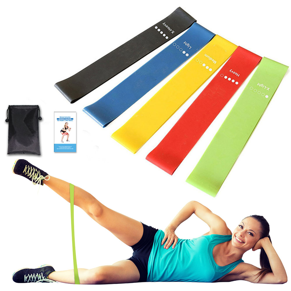 5 pcs Gum for Fitness Elastic Band Resistance Bands Strength Training Workout Expander Muscle Mini Bands Gym Fitness Equipment best resistance bands