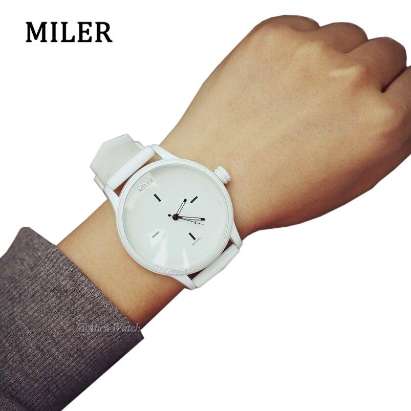 Simple Creative Silicone Quartz Watches Minimalist Women Men Watch Black White Reloj Mujer Casual Clock Dress Relogio Feminino
