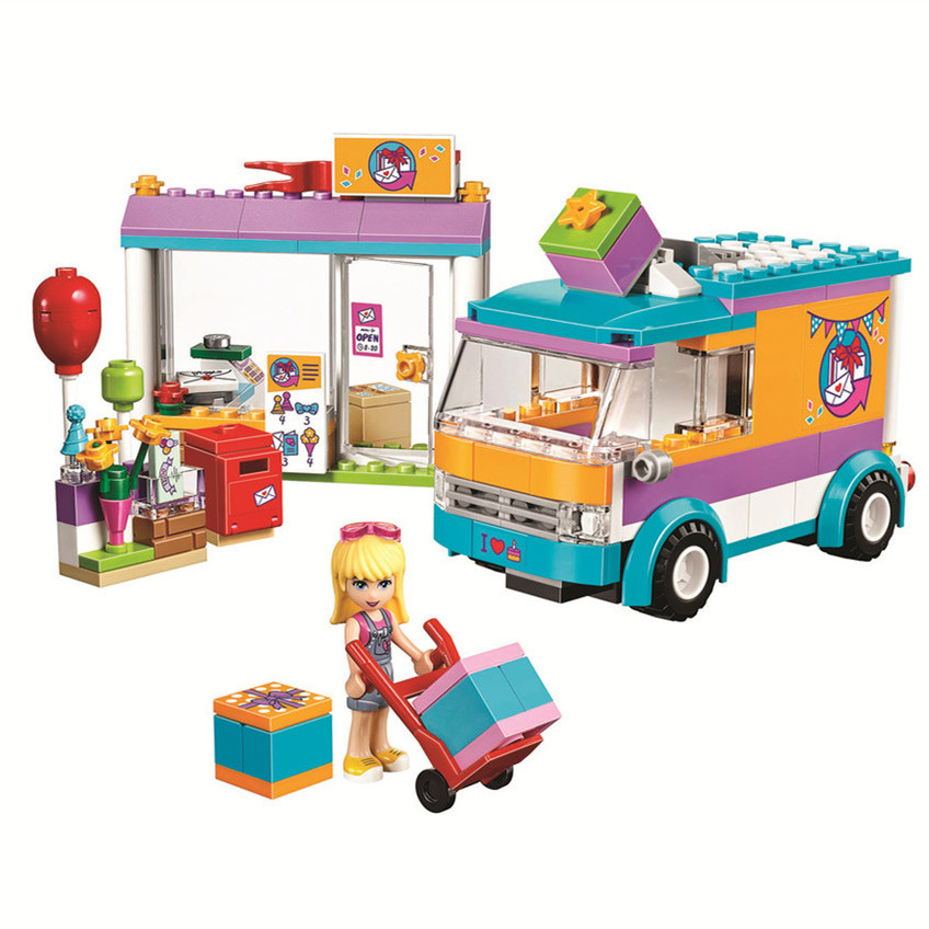 BELA Friends Series Heartlake Gift Delivery Building Block Classic For Girl Kid Model Toys Marvel lepin lele brick block DIY toy new 7033 friends series the city park cafe pirate ship model building block classic girl toys compatible with lepin