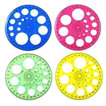 XRHYY 4 шт Красочные 360 градусов круговой пластиковая линейка транспортира шаблон(случайный 4 цвета