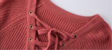 Fashion Lace Up Wool Sweaters Women 2017 Autumn Winter Long Sleeve Warm Pullovers Knitted Christmas Sweater Pull Jumper