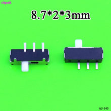 Cltgxdd 1 Pcs Miniatur Slide Switch 3 Pin 2 Kanan Reset Menarik Dimainkan Sisi Gunung Patch 8.7*2*3 Mm(China)
