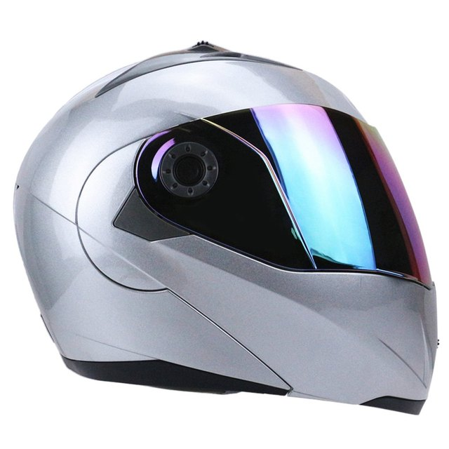 Best Sales Safe flip up helmet motorcycle helmet Size M L XL XXL available windshield availabel Motorbike helmet Silver