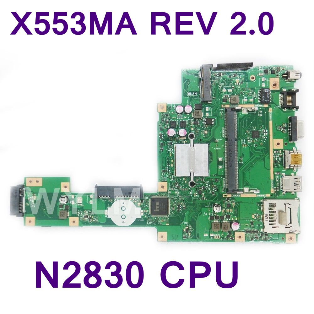 X553MA X503M Mianboard FOR ASUS X503M F553MA F553M X553MA laptop motherboard with SR1W4 N2830U REV2.0 USB3.0 mainboard 100% test все цены