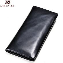 Difenise Brand the First Layer Cowhide Leather Men Wallets 20 card slot large capacity Long style Men's Purse High quality gift