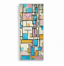 100%hand painted Abstract Oil Painting Grid Pictures By Piet Cornelies Mondrian Canvas On Wall Decoration